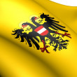 Holy Roman Empire Flag (1437-1493) - Stock Photo