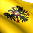 Holy Roman Empire Flag (1493-1556) — Stock Photo