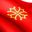 Flag of Languedoc, France. - Stok fotoğraf