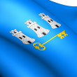 Stock Photo: Flag of Havana , Cuba.