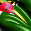 Flag of Dominica - Stock Photo