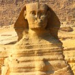 Egypt sphinx and pyramid in Giza — Stock Photo