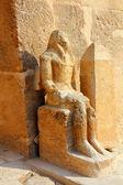 Ancient egypt statue in Giza — Stock Photo