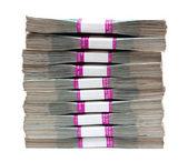 Milyon ruble - faturaları paketlerine yığını — Stok fotoğraf