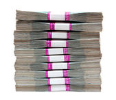 Million rubles - stack of bills in packs — Stock Photo