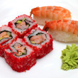 Rolls and sushi on plate — Stock Photo #8844174
