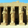 Ancient statues in Luxor karnak temple — Stock Photo #8964216
