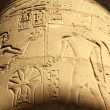 Column with ancient egypt images and hieroglyphics — Stock Photo