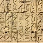 Ancient egypt hieroglyphics in karnak temple — Stock Photo