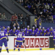 Stock Photo: Ice-hockey game Ukraine vs Lithuania