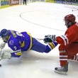 Ice-hockey game Ukraine vs Poland — Stockfoto