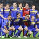 Постер, плакат: FC BATE Borisov team pose for a group photo