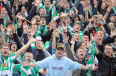 FC Karpaty Lviv team supporters — Stock Photo