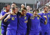 Ukraine (Under-21) National Football Team — Stock Photo