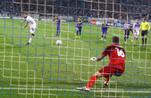 Artem Milevsky of Dynamo Kyiv misses the penalty — Stock Photo