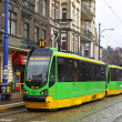 Tram on a street of Poznan - Stock Photo