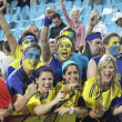 Stock Photo: Ukrainisoccer fans