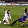 Milos Ninkovic of Dynamo Kyiv and Igor Shitov of Bate - Stock Photo