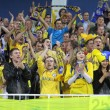 FC BATE Borisov fans — Stock Photo