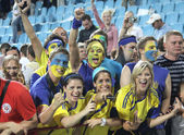 Ukrainian soccer fans — Stock Photo