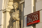 Sculpture of Muse (Urania) in University of Warsaw — Stock Photo