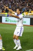 Andriy şevçenko dinamo kiev tepki sonra bir gol attı — Stok fotoğraf