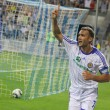 Andriy Shevchenko of Dynamo Kyiv reacts after he scored a goal — Stock Photo