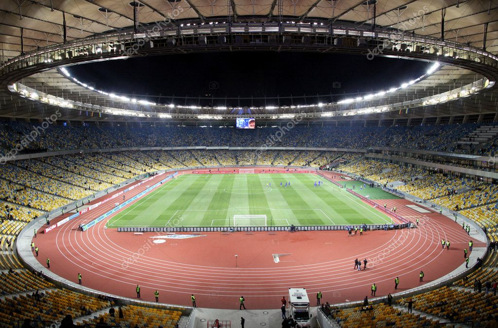 Panoramic view of Olympic stadium (NSC Olimpiysky) in Kyiv, Ukraine  Stock Photo #8042033