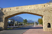 Street of City of Kemer, Antalya province, Turkey — Stock Photo
