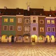 Stock Photo: Сolourful houses in Old Market Square in Poznan, Poland