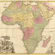 Ancient map of Africa — 图库照片