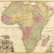 Ancient map of Africa — Stockfoto