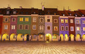 Сolourful houses in Old Market Square in Poznan, Poland — Stock Photo