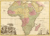 Ancient map of Africa — Stock Photo