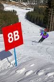 Ski Track Of Bukovel Resort, Carpathians, Ukraine — Stock Photo
