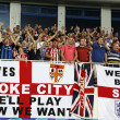 Royalty-Free Stock Photo: FC Stoke City supporters show their support