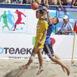 Beach soccer game between Ukraine and Russia — Stock Photo #9117735