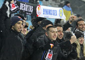 FC Besiktas supporters show their support — Stock Photo