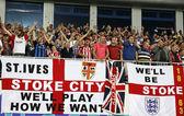 Fc stoke visualizza sostenitori città loro sostegno — Foto Stock