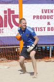 Ukrayna ve rusya arasında beach soccer oyunu — Foto de Stock