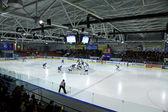 Ishockey spel mellan Ukraina och Kazakstan — Stockfoto