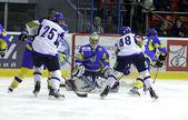 Euro Hockey Challenge game between Ukraine and Kazakhstan — Stock Photo