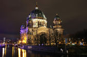 Berlin Cathedral (Berliner Dom) at night — Stock Photo