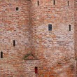 Close-up wall of fortification castle — Foto Stock