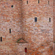 Close-up wall of fortification castle — Stock Photo