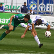 Andriy Shevchenko of Dynamo Kyiv and Artem Fedetskyy of Karpaty - Stock Photo