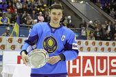 Kazajstán - medallista de oro de la iihf mundial campeonato div — Foto de Stock