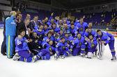 Kazakhstan ice-hockey team — Stock Photo