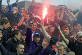 Ultra partidarios de fc dynamo kyiv — Foto de Stock