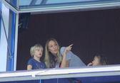 Kristen Pazik and her children — Stock Photo